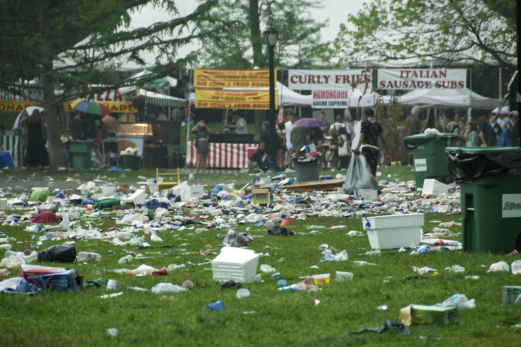 waste at music festivals